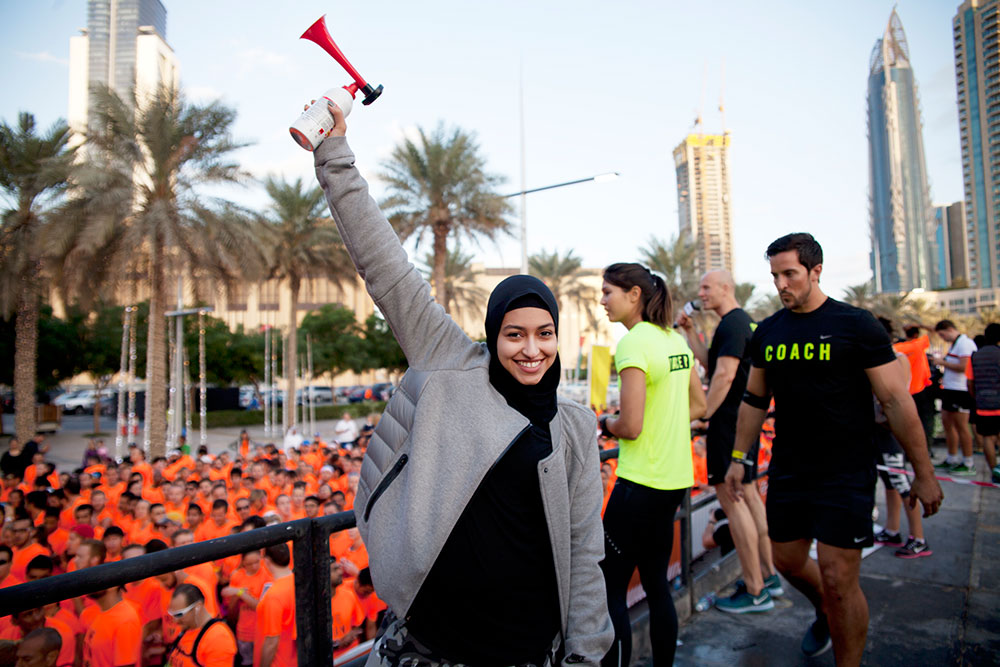 First Arab to open a Nike We Run 10k Race