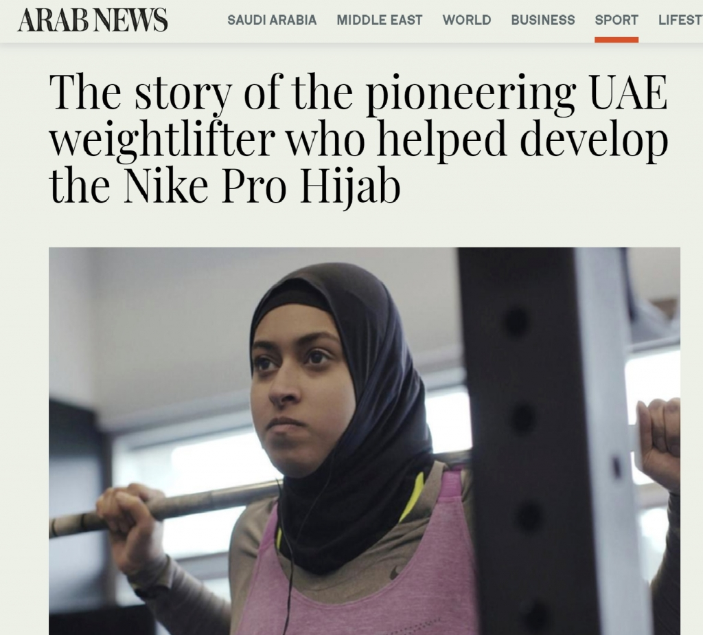 Amna journey leaves a legacy, inspiration behind Nike Pro Hijab